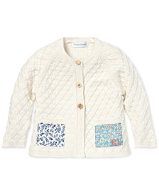 Polo Ralph Lauren Baby Girls Patchwork Cotton Cardigan