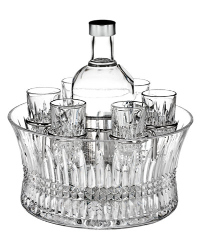 Waterford Barware, Lismore Diamond Vodka Set with Chill Bowl