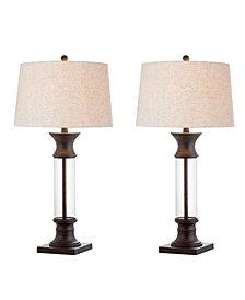 Hunter Metal or Glass Led Table Lamp, Set Of 2