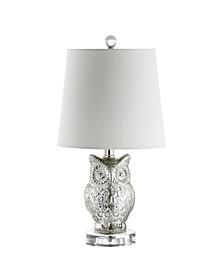 Night Owl Glass, Crystal Led Table Lamp
