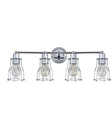 Evelyn 4-Light Metal Vanity Light