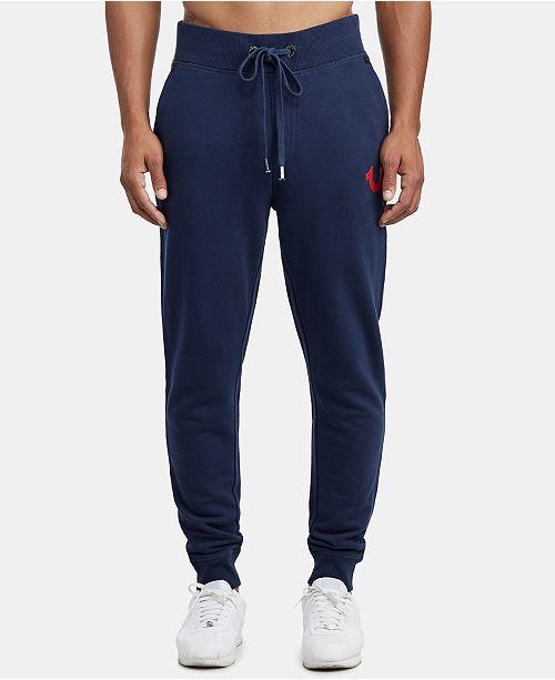 True Religion Men's Foil Buddha Slim-Fit Joggers - Pants - Men - Macy's ea99bbe537fd
