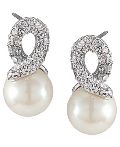 Carolee Earrings Gl Pearl Knot Drop