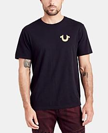 Mens Gold Buddha Graphic T-Shirt