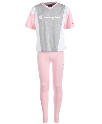 4f90d24c Big Girls Colorblocked Logo-Print T-Shirt & Side-Script Logo Leggings.  Champion