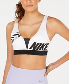 Nike Sport Distort Indy Plunging Racerback Light-Support Sports Bra