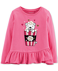 Carter's Toddler Girls Cotton Graphic-Print Peplum T-Shirt