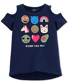 Carter's Little Girls Emoji Graphic Cotton T-Shirt