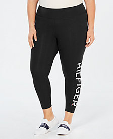 Tommy Hilfiger Sport Plus Size High-Rise Logo Leggings