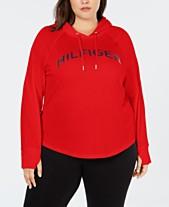 b4e42b80102 Tommy Hilfiger Sport Plus Size Logo Raglan-Sleeve Hoodie