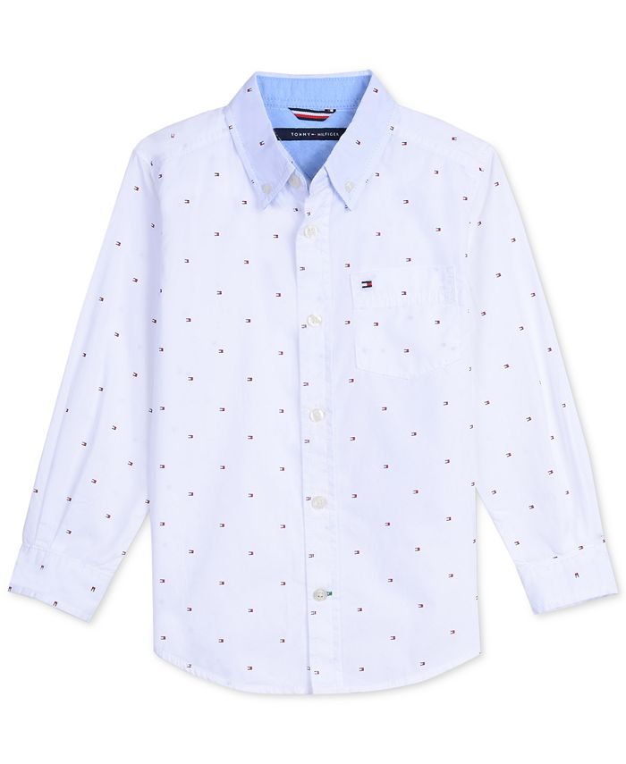 Tommy Hilfiger - Baby Boys Printed Cotton Shirt