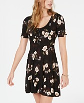 912c695e1 American Rag Juniors' Printed Lace-Up Fit & Flare Dress, Created for  Macy's. Quickview. 2 colors