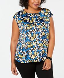 cc04e724d13 Kasper Plus Size Floral-Print Top