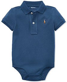 Polo Ralph Lauren Baby Boys Cotton Mesh Polo Bodysuit