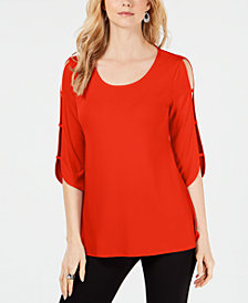 JM Collection Petite Ladder-Sleeve Top, Created for Macy's