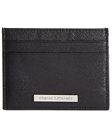 A|X Armani Exchange Men's Leather Card Holder