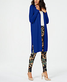 Thalia Sodi Gauge-Trim Duster Cardigan, Created for Macy's