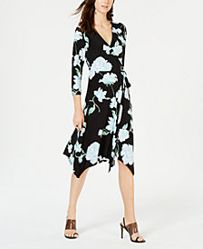 I.N.C. Petite Floral Wrap Dress, Created for Macy's