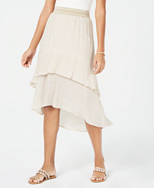 Thalia Sodi Layered Gauze Skirt, Created for Macy's