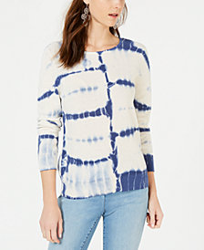 I.N.C. Petite Cotton Tie-Dye Sweater, Created for Macy's
