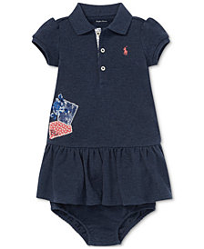 Polo Ralph Lauren Baby Girls Patchwork Cotton Polo Dress