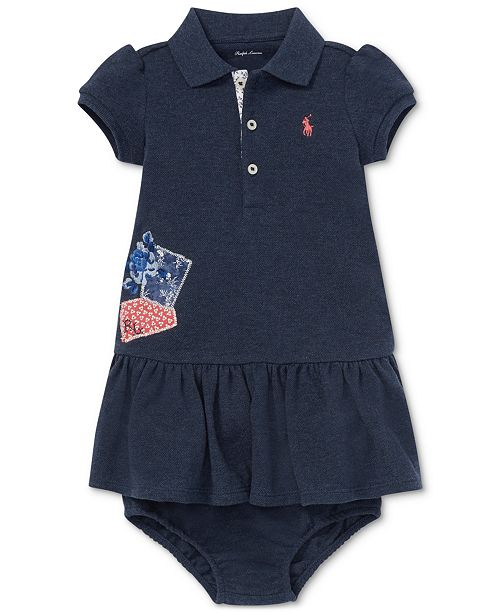 6ae0494f48 Polo Ralph Lauren Baby Girls Patchwork Cotton Polo Dress ...