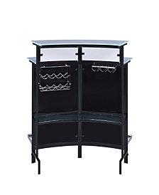 Vincent Contemporary Two-Shelf Bar Unit