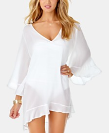 Anne Cole Live In Color Ruffle Cover-Up