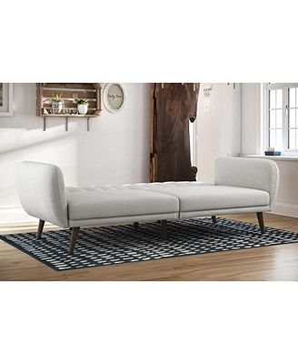 Novogratz Collection Novogratz Brittany Linen Futon Furniture Macy S