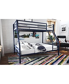 Novogratz Maxwell Twin over Full Metal Bunk Bed