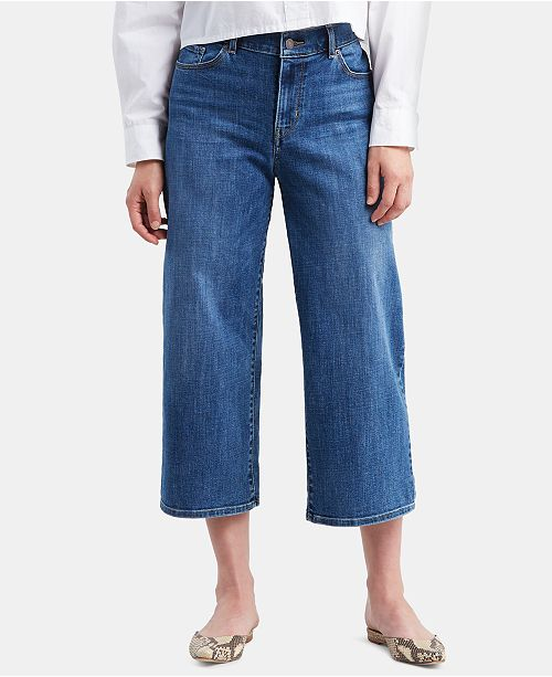 Levi's Cropped Wide-Leg Jeans