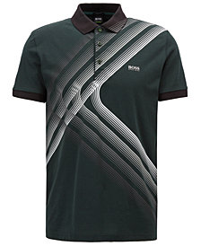 BOSS Men's Regular/Classic-Fit Graphic Cotton Polo