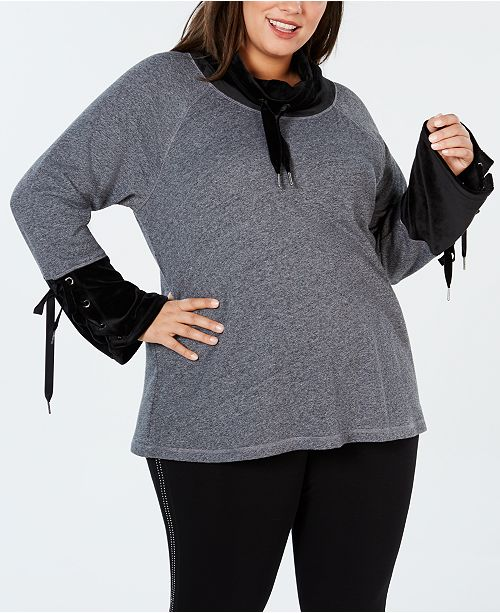 04ffa346988 Calvin Klein Plus Size Cowl-Neck Bell-Sleeve Top   Reviews - Tops ...