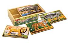 Wild Animals Puzzle In A Box