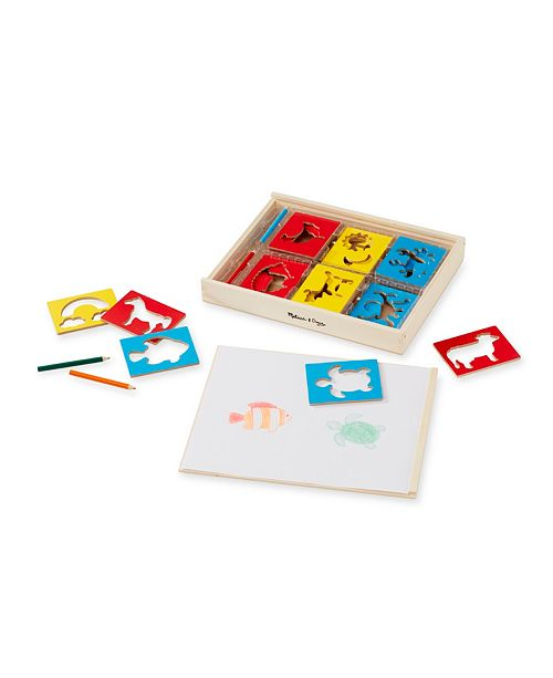 Melissa and Doug Wooden Stencil Box