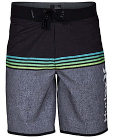 "Hurley Men's Phantom Surfside Colorblocked Ombré Stripe 20"" Board Shorts"