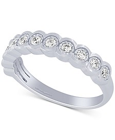Diamond Scalloped Band (1/5 ct. t.w.) in 10k White Gold