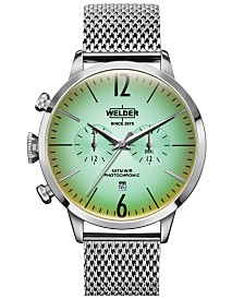 WELDER Men's Stainless Steel Mesh Bracelet Watch 42mm