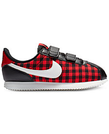 Nike Little Girls' Cortez Basic Textile SE Casual Sneakers from Finish Line