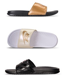 Women's Benassi Just Do It Swoosh Slide Sandals from Finish Line