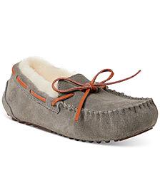 Dearfoams Fireside Victoria Shearling Moccasin Slippers