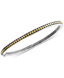 EFFY® Two-Tone Bangle Bracelet in Sterling Silver & 18k Gold-Plated Sterling Silver