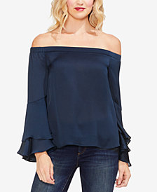 Vince Camuto Off-The-Shoulder Bell-Sleeve Top