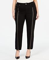 bd046ca4d9b Seven7 Jeans Plus Size Zipper-Trim Straight-Leg Jeans