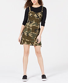 Kendall + Kylie Cotton Camo-Print Dress