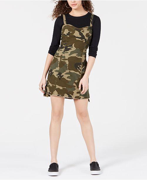 Kendall + Kylie Cotton Camo-Print Dress