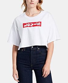 Levi's® Cotton Graphic-Print Cropped T-Shirt