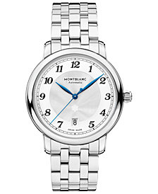 Montblanc Men's Swiss Automatic Star Legacy Stainless Steel Bracelet Watch 39mm