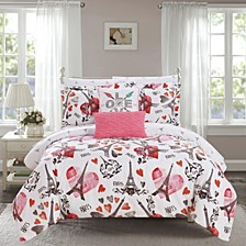 Le Marias 7 Piece Twin Bed In a Bag Comforter Set