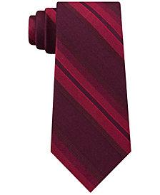 Calvin Klein Men's Molten Striation Stripe Slim Tie
